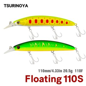 Tsurinoya 5pcs DW48 Floating Minnow Fishing Lure Set Jerkbait 110mm 20.5g 낚시 Wobblers Swimbait Sea Bass Lure Crankbait 201029