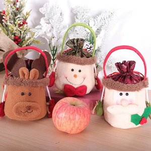 1 Pcs Santa Claus Snowman Elk Drawstring Storage Bag Christmas Candy Apple Gift Bags Xmas New Year Decor Hanging Ornaments