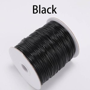 10m lot 1.0 1.5mm Black White Waxed Cotton Cord Thread Cord String Fit Beading Craft Diy Necklace For Jewelry Making wmtSuz