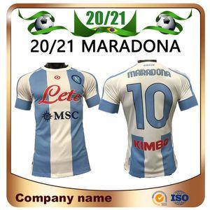 20/21 Version du joueur Napoli Commémorer Maradona Soccer Jerseys 2021 Quatrième Sherens Mertens Maillots de Football Hamsik Milik Football Shirt