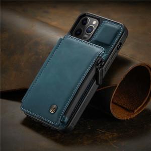 Cuir de luxe Cuir classique iPhone 12 11Pro XS XR X Marque de mode Couverture de protection de la marque de la mode pour Galaxy S20 S10 Note10 9 Couverture