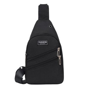 2021 Fashion Nylon Chest Bag Unisex Solid Letter Shoulder Bag Zipper Versatile Purses And Handbags Bolsa Feminina Bolsos Mujer
