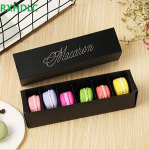 Hediye Paketi Damgalama Pasta Ambalaj Kutuları Çekmece Kek Kutusu Çikolata Pişirme 6 adet Düğün için 6 adet Macarons Macarons