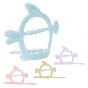 Nuovi morsi in silicone Giocattoli Molar Stick Bambini Effetti dei bambini Morso di colore Guanti Baby Boy Girl Dental Care Assistenza sicura Non tossica