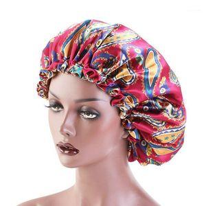 Double Layer Adjustable Sleep Cap Silky Satin Bonnet Hat Women Beanies Turban Hat Lady Bonnet Headwrap Hair Wrap Accessories1
