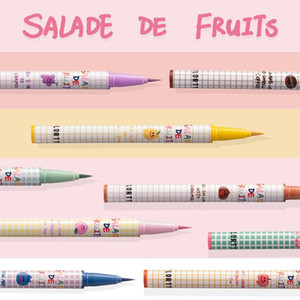 ALINICE 2020 new Fresh fruit salad series waterproof eye liner, pen, and non staining, lasting beginners.