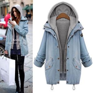 2021 Autumn-Winter Loose Denim Jacket+Vest 2pcs Women Embroidery Jeans Coat Single Breasted Jeans Jacket Casual Women Jacket