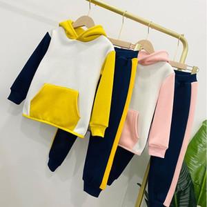 Baby мультфильм спортивная одежда набор одежды с душочком пальто Топы брюки 2 шт. Custsuit Baby Girl Spring Fall Outfits Cousssuit костюм YHM436