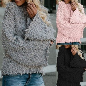 Designer fur clothes Womens Winter Warm Sweater Solid outdoor tops streetwear Fashion Loose Outwear Jackets Coats wool Thick Sweaters casual