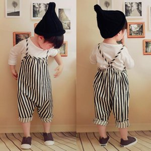 New 0-4T Baby Girls Harem Pants Boys Kids Striped Trousers Children's Romper Overalls Jumpsuit Clothing