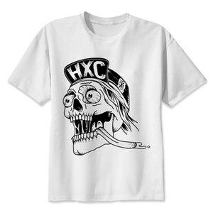 Hardcore HXC Kafatası 2020 Yaratıcı Marka Giyim Kısa Kollu Hipster Erkek Giyen Tee Tops Tasarımcılar T Gömlek Erkekler Grafik Hoodie