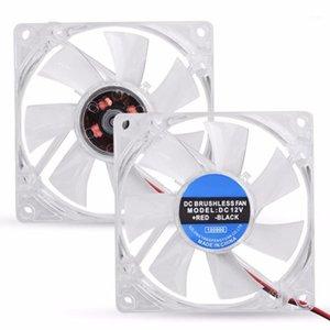 80mm LED-Licht 12 V 4pin CPU-Kühler-Lüfter für Computer-PC-Gehäuse Mute-Kühlfan1