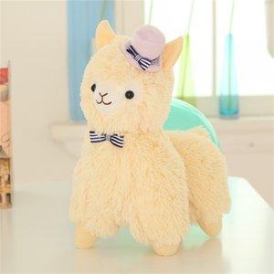 뜨거운 판매 35 / 55cm 귀여운 안장 Alpaca 플러시 장난감 소프트 봉제 Alpacaso Alpaca 인형 박제 귀여운 동물 장난감 어린이 생일 선물 201212