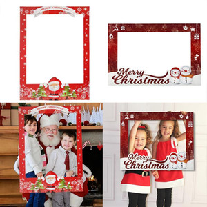 Family Christmas Picture Frame Prop Merry Christmas Selfie Photo Booth Photo Shoot Props Frame Xmas Photobooth New Year gift