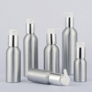 24 x Aluminum Lotion Metal Container with Press Pump Aluminium Cosmetic Cream bottle 40ml 50ml 100ml 120ml 150ml 250ml