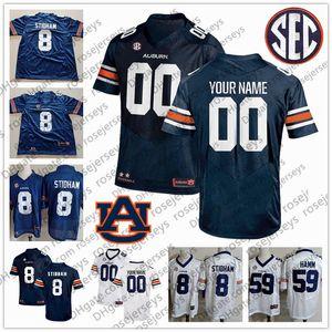 Custom Auburn NCAA Football # 10 BO NIX 3 DJ Williams 8 Shaun Shivers 12 Eli Herd 18 Seth Williams Männer Jugend Kind 3XL