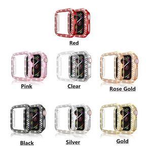 Бампер защитный чехол для часов с двумя рядами Bling Diamonds Phock Plating легкий для серии Fitbit iWatch с OPP