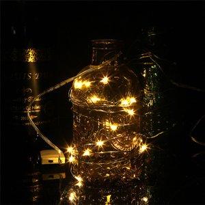 Saite Lights Silberdraht Weihnachten Girlanden Girlande LED Fairy Light Weihnachten Dekorationen für Home Zimmer Baum Weihnachten Dekoration GGB2340