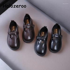 2021 Spring Kids Shoes Children Pu Leather Flats Baby Girls Brand Shoes Toddler Soft Fashion Boys School Mary Jane1