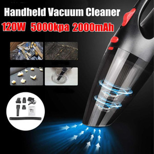 120W 5000pa Handheld Cordless Vacuum Cleaner for Car Home Use HEPA Filter Mini Portable USB Rechargeable Wet Dry 2200mAh