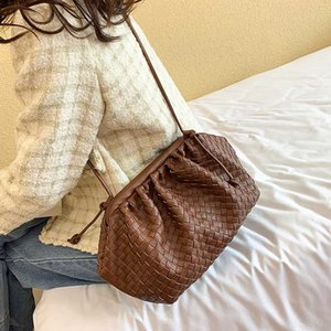 [BXX] PU Leather Weaving Crossbody Bags For Women 2020 Lady Designer Shoulder Messenger Bag Female Handbags Elegant Clutch HJ404