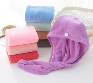Dry Hair Caps Microfiber Quick Dry Shower Hair Caps Magic Super Absorbent Dry Hair Towel Drying Turban Wrap Hat Spa Bathing Caps SN3539