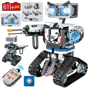 SEMBO Şehir Teknik RC Robot Yapı Taşları Yaratıcı Uzaktan Kumanda Akıllı Robot Araba Silah Tuğla Oyuncaklar Çocuk Boys için 201211