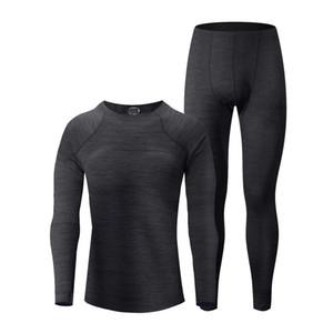 Conjuntos de ropa interior térmica para hombre con tops y pantalones de lana calentada Larga Johns Wear para un clima frío extremo Outdoor Sports o Ski Super Cómodo