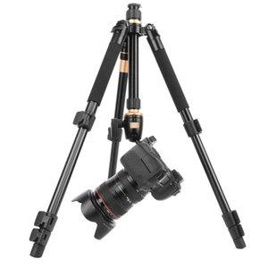 2019 새로운 전문 확장 가능한 QZSD Q555 55.5 인치 알루미늄 합금 카메라 비디오 삼각대 모노 포드 퀵 릴리스 플레이트 스탠드
