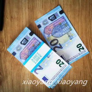 20 EURO Juego Moneda Prop Money Dinero EE.UU. Play Toy o Family Game Paper Copy Banknote 100pcs / Pack
