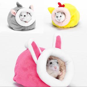 12 * 10 * 9 cm Mini PET House Hamster Kirpi Kış Mağarası Hayvan Yatak Kalınlaşma Sıcak Mobilya Sincap Yuva 3 Renk 4 5zg G2