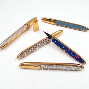 NEW 2 IN 1 Self Adhesive Liquid Eyeliner For False Eyelashes Glue Long-Lasting colourful black eyeliner pen  10pcs