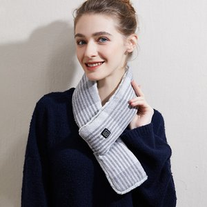 Winter Warm Scarf Heated Scarf USB Women Heating Scarf Couple 3 Modes Ajustable Neckerchief Plush Collar Scarves DDA836