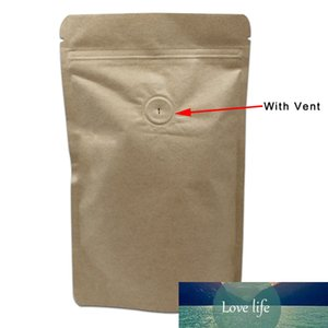 20Pcs Lot 3 sizes Stand Up Pure Aluminium Foil   Kraft Paper Package Organ Bags For Coffee Tea Packaging Bellows Bag With Valve