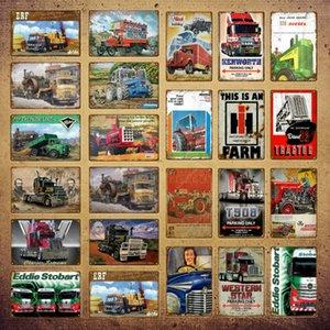 2021 Azienda agricola retrò Trattore Azienda agricola Metallo Segni all'aperto Placca Vintage Poster Della Parete Decorazione per il garage Azienda agricola Uomo Piastra decorativa Cave 20x30cm