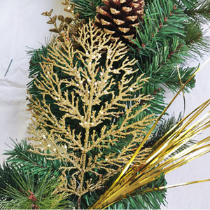 Искусственные зеленые листья венок Рождественская елка украшения передний дверь цветок венок оболочки травяной баксуд для двери стены окна Party HHE3377