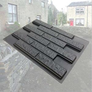 DIY Lawn Yard Garden wall stone Mould Suitable for concrete gypsum stone cement stone tile shape wall 49x68.5x2.5cm