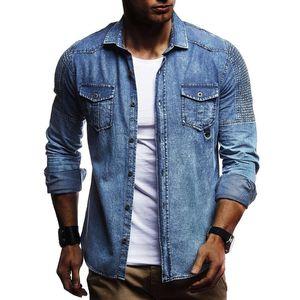 Heflashor Slim Fit Herren Denim Jacke Bomberjacke Männer Hohe Qualität Cowboy Jean Chaqueta Hombre Patch Design Denim Mantel