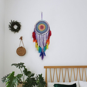 Hand-Woven Tapestry Net Indian Dreamcatcher Home  Hotel Wall Decoration Tapestry Multiple Styles Select Rope Feather Weaving YYS3399
