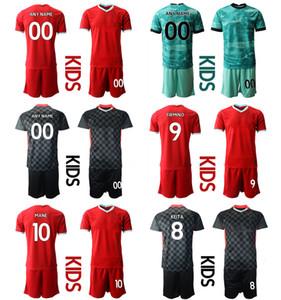 2021 Season Custom Kids Kit 66 ALEXANDER-ARNOLD 27 ORIGI 4 VIRGIL 7 MILNER Football Jerseys 1 A.BECKER 10 MANE 9 FIRMINO Boys Uniform Sets