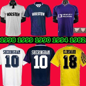 1994 1995 Klinsmann 1990 1998 1999 1991 1982 Retro Gazcoigne Anderton Sheringham Tottenham Ginola Ferdinand Futbol Jersey Centenary Üniformaları