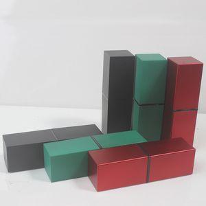 12.1mm пластикового Red Lipstick Tube Top Grade Empty Square Lip Balm Black Rouge Контейнер Элегантный Cosmetic