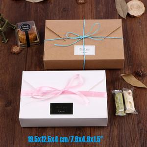 "20pcs lot 19.5x12.5x4 cm 7.6x4.9x1.5"" kraft paper white gift boxes envelope styled presentation box for wedding invitation cards"