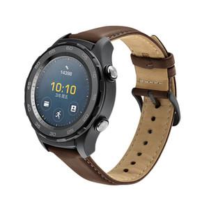 Nouvelle bande de rechange en cuir de rechange pour Huawei Regard 2 4g Sangle en cuir véritable Smartwatch Accessoires Noir Gris Brun Brown