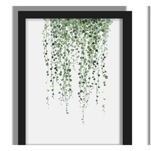 Green Plant Digital Painting Modern Decorato Immagine incorniciata Pittura Fashion Art Painted Hotel Decorazione della parete Decorazione DR SQCBMF PP2006