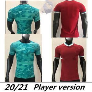 Версия для игрока Главная Рыжий Далеко Грин третий черный Топ Таиланд Мохамед Футбол Джерси Футбол футбол 20 21 Virgil 2020 2021 Мужчины