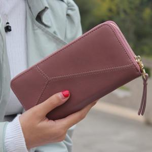 Longa 2020 designer de marca feminino grande capcity zipper senhoras telefone embreagem pulseira mulheres bolsa carteira