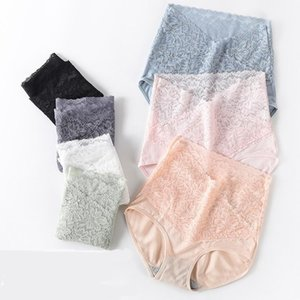 3pcs Sexy Lingerie Lace Women Panties High-Rise Cotton Tummy Control Body Briefs Comfort Girl Panty Intimates