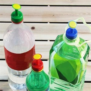 2020 New Fashion Gardening Plant Watering Attachment Spray-head Soft Drink Bottle Water Can Top Waterers Seedling Irrigation Equipment