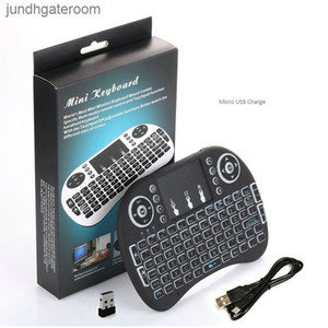 TouchPad I8 Mini Беспроводная клавиатура Портативный Светодиодный RII Задний свет 2.4G Воздушная мышь Пульт дистанционного управления Руководством для Android TV Box